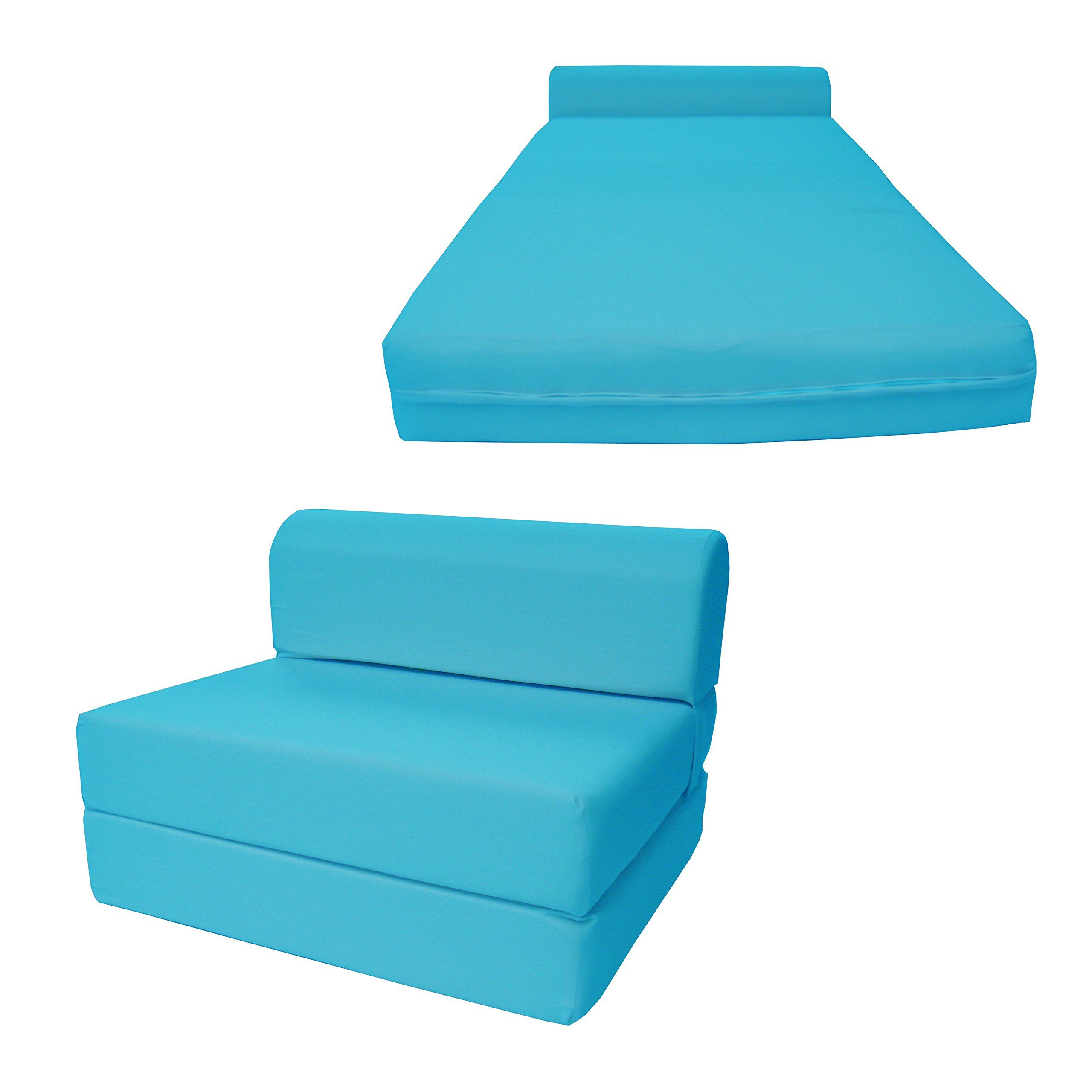 DandD Futon Furniture Turquoise Sleeper Chair Folding Foam
