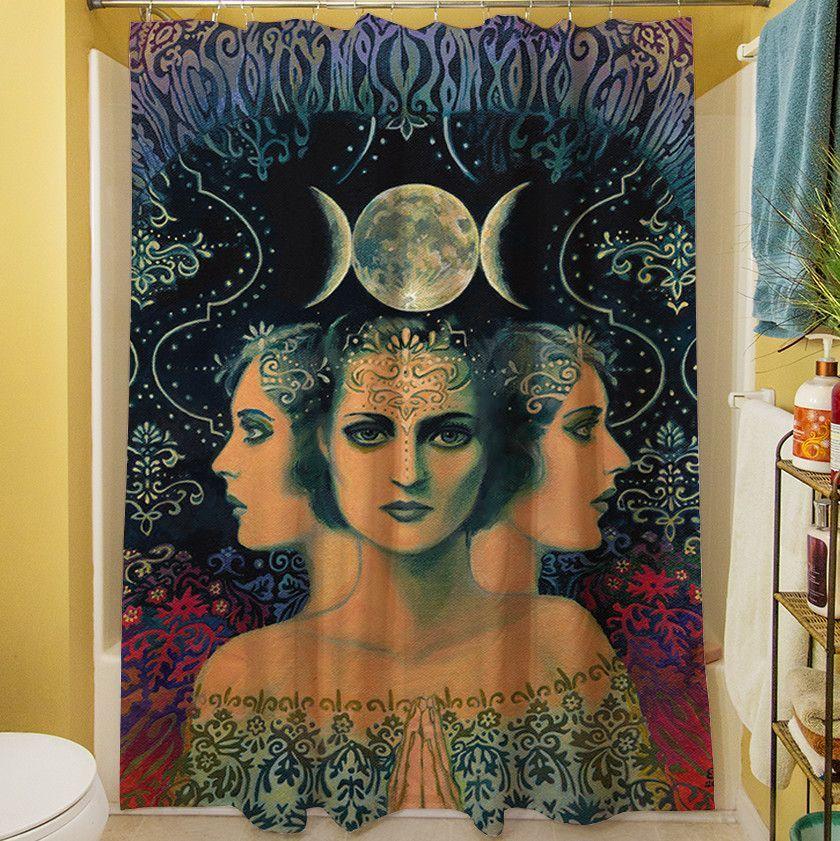 The Moon Goddess Of Mystery Shower Curtain