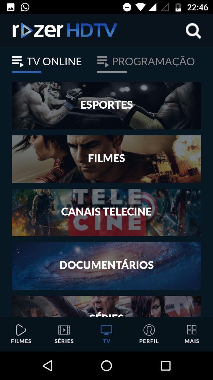 Razer Hdtv Apk Melhor App De Filmes E Series 2018 App Para