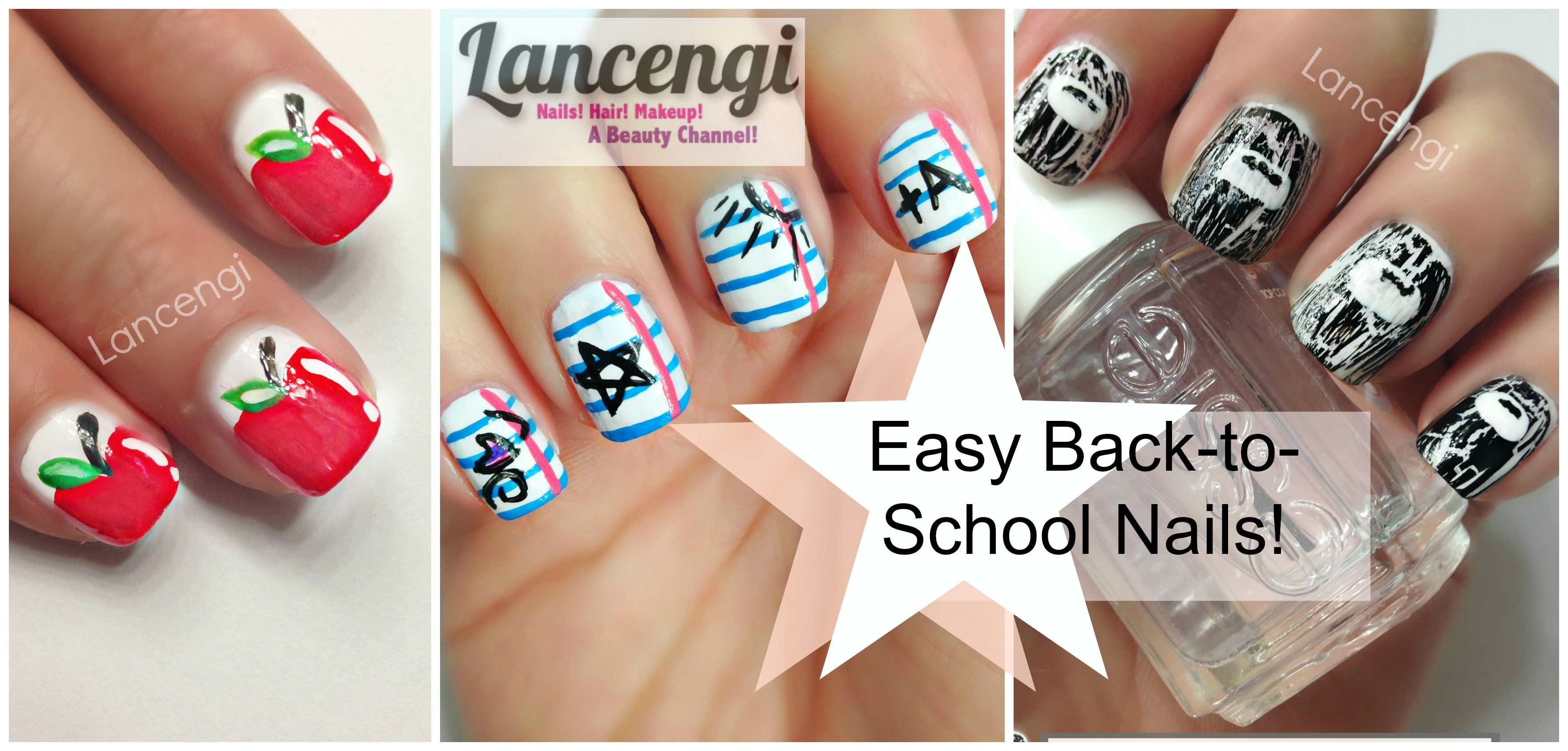 Easy Nail Art Designs For Beginners 6 Back To School Perfect Short Nails Tutorial
