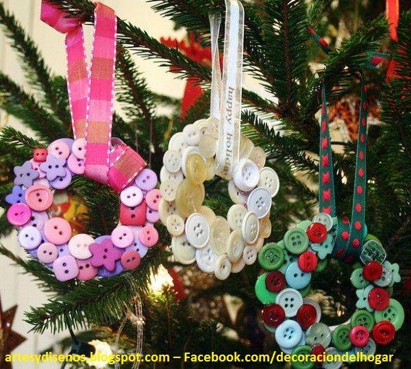 M s de 25 ideas incre bles sobre adornos navide os caseros - Ideas adornos navidenos ...
