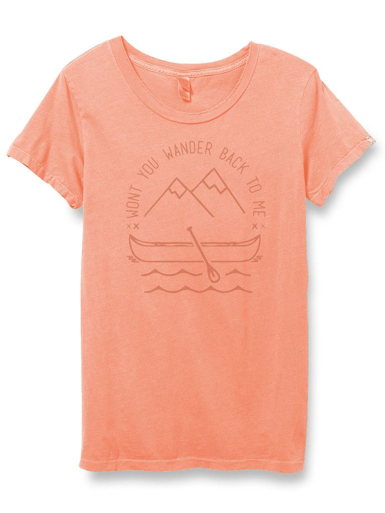 The 'Little Wanderer' Vintage Fit Tee - Persimmon. SUPER CUTE AND SOFT T-SHIRTS.