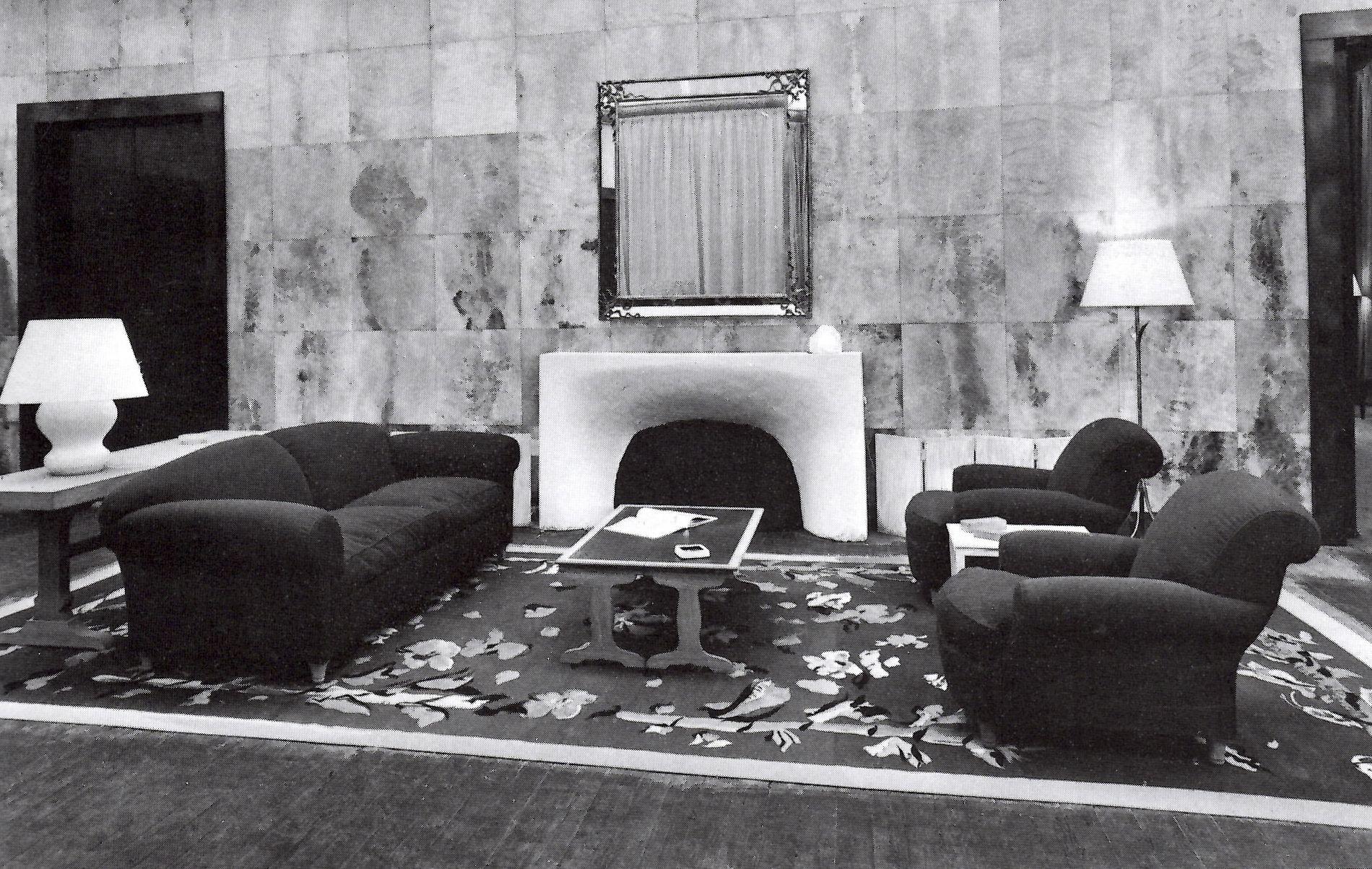 Jean Michel Frank Living Room, Fireplace
