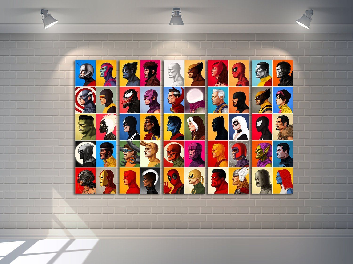 Superhero Marvel Canvas Game Room Decor Multi Panel Wall Art Gift