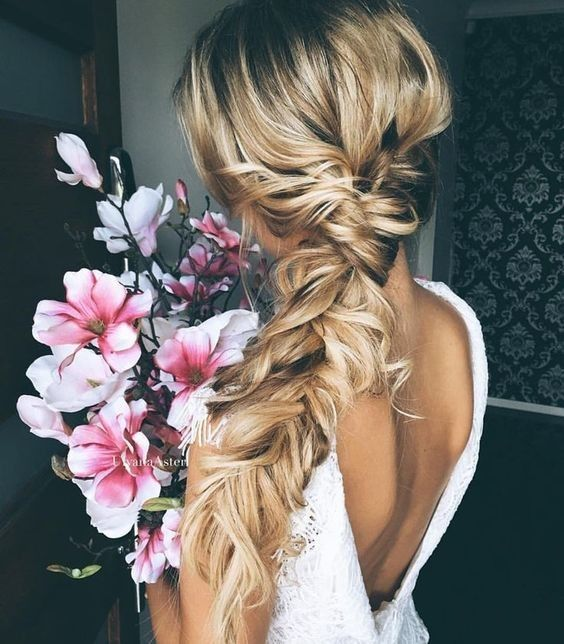 Fishtail Braid Wedding Hairstyles: Loose Fishtail Bridal Braid
