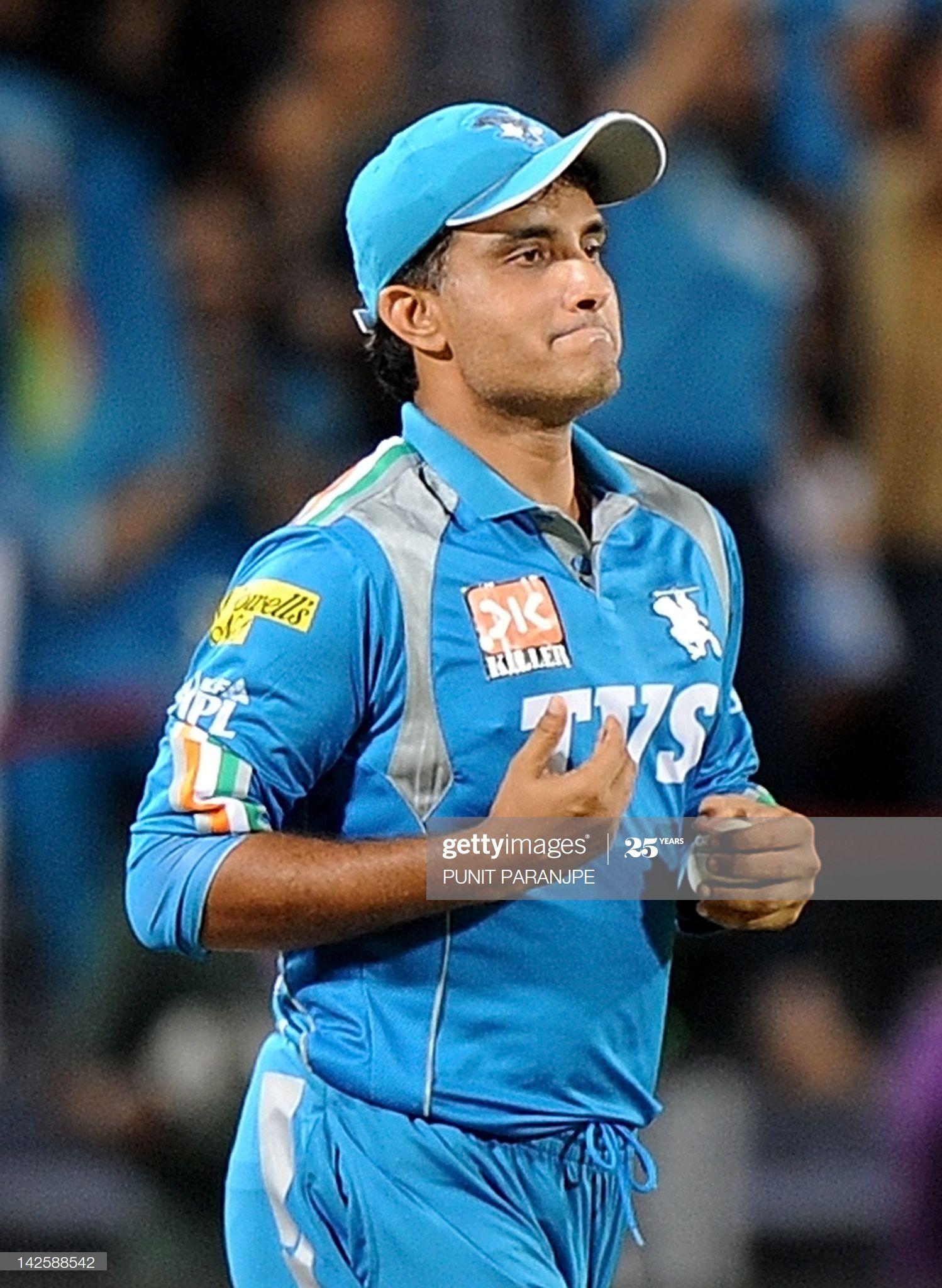 News Photo Pune Warriors' India captain Sourav Ganguly