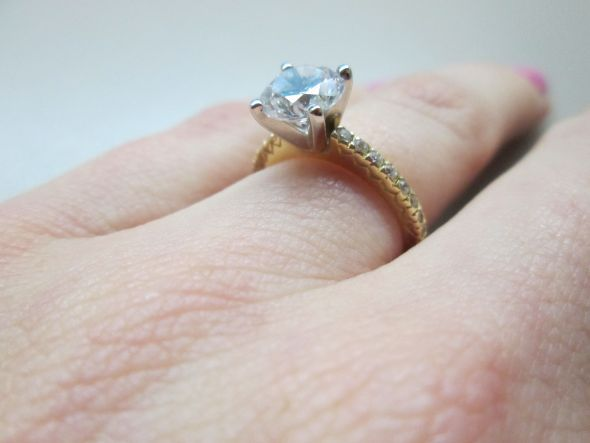 1.25 Ct Solitaire, 1.8 Mm Band, Ring Size 4