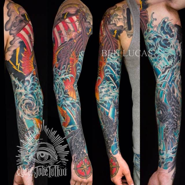 Viking sleeve tattoo thor tattoos pinterest thor for Viking tattoo sleeves