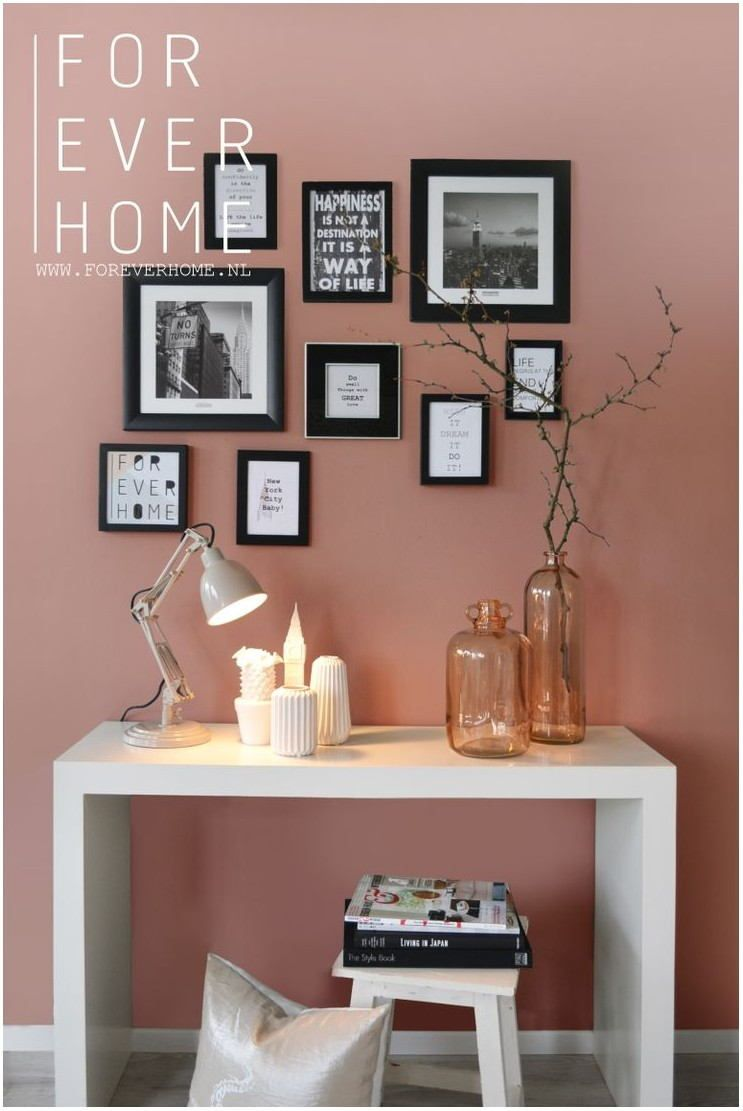rose gold paint living room  pink home decor feng shui
