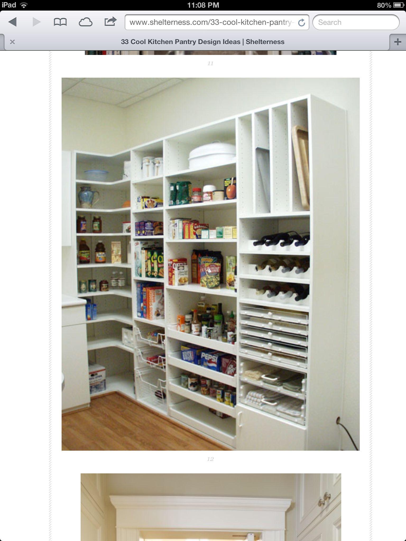 Shelves   pantry storage ideas   Pinterest