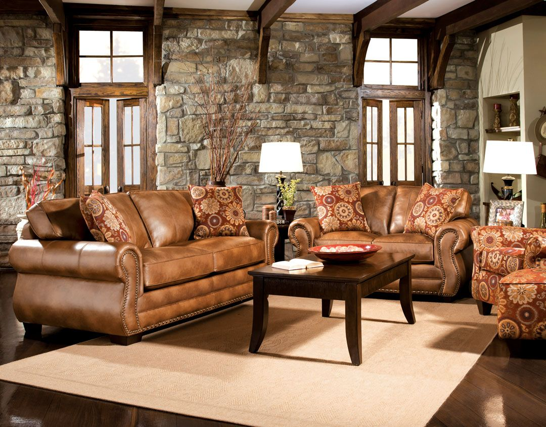 Furniture Design Living Room Sofas And Sets Sofa Made In USA 2 Pc Birmingham Classic Style Golden Brown Leather Like Fabric