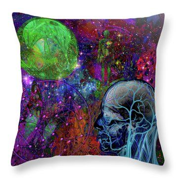 Alpha And Omega Electromagnetic Throw Pillow by Joseph Mosley http://www.maxwells-equations.com/index.php#maxwells