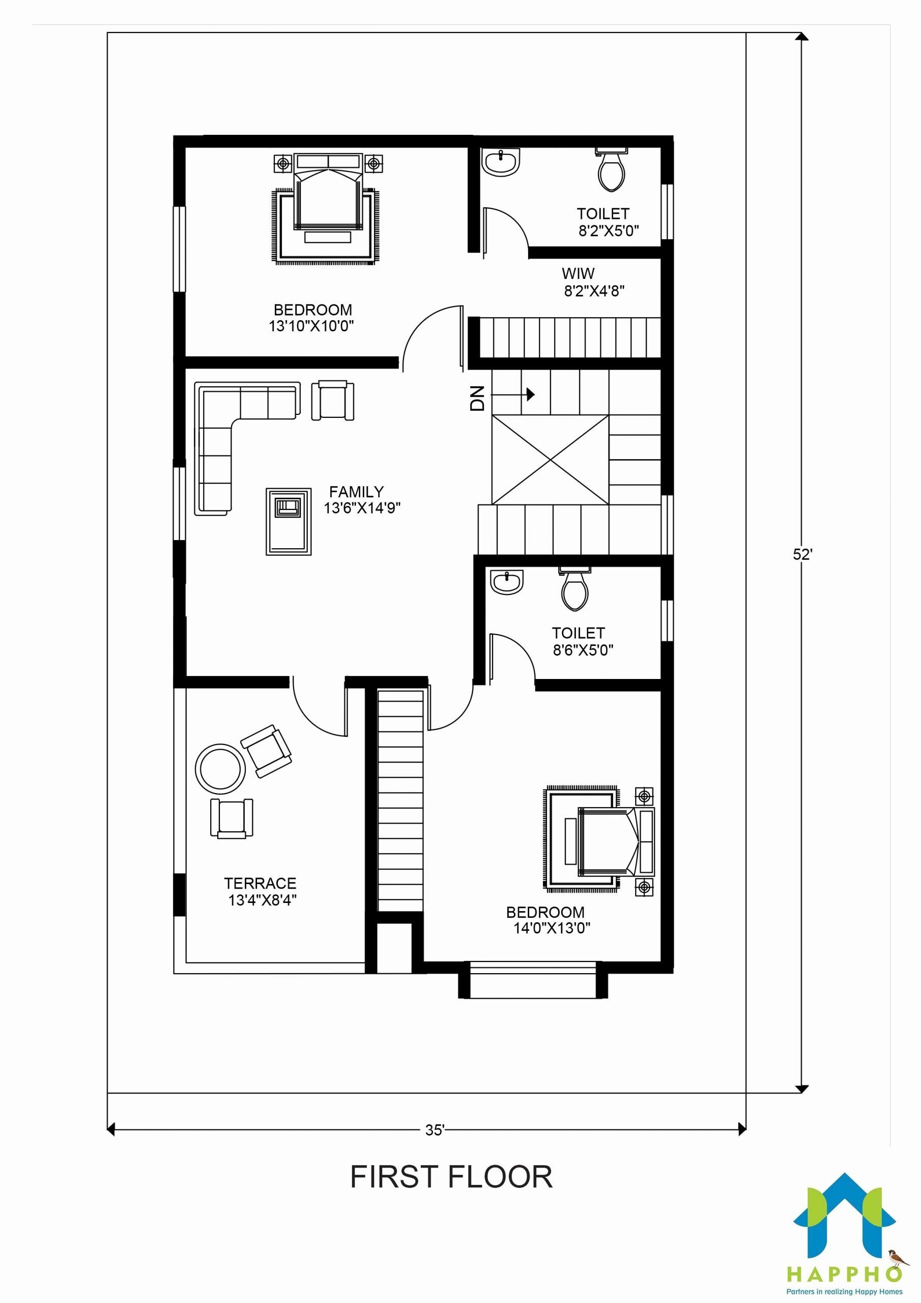 50 X 30 House Plans New Floor Plan For 30 X 50 Feet Plot Unique Floor Plans Tiny House Floor Plans 20x40 House Plans