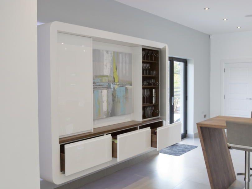 Best Storage Used Corian Worktops Real Kitchen White Doves 400 x 300