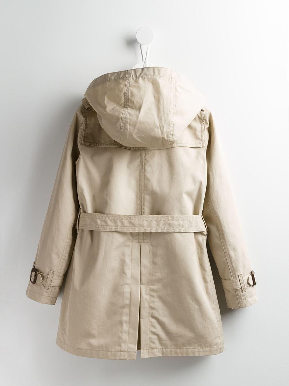 2f9ca5f480437 Burberry Kids Trench Coat Com Capuz - Farfetch