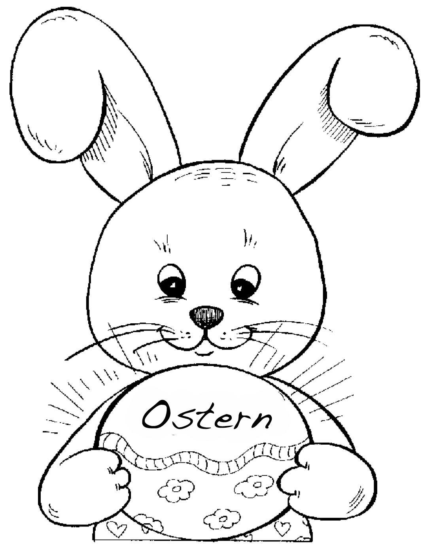 Osterhase Ausmalbild Drucken  Amorphi
