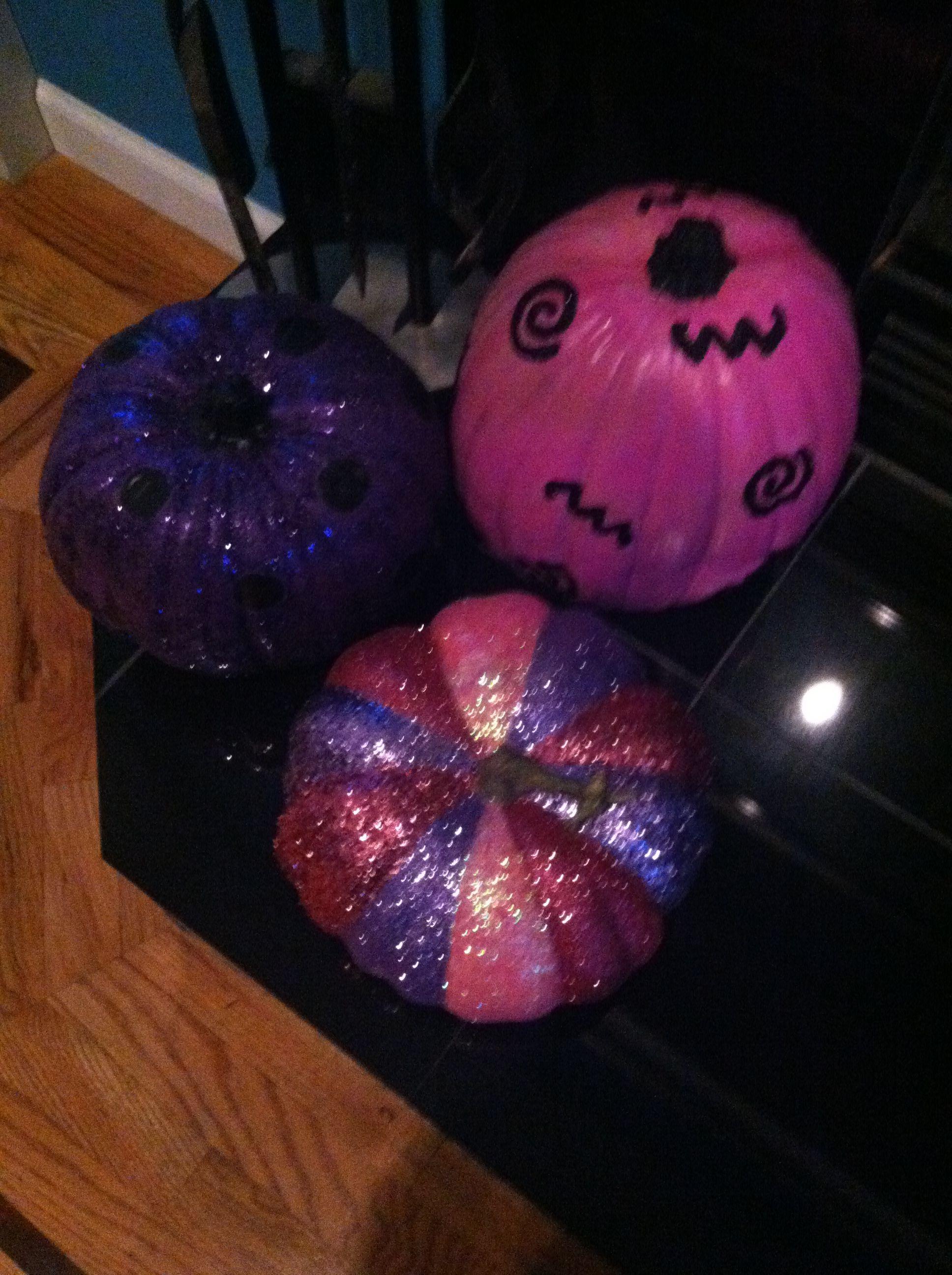 glittered pumpkins pjw 2013
