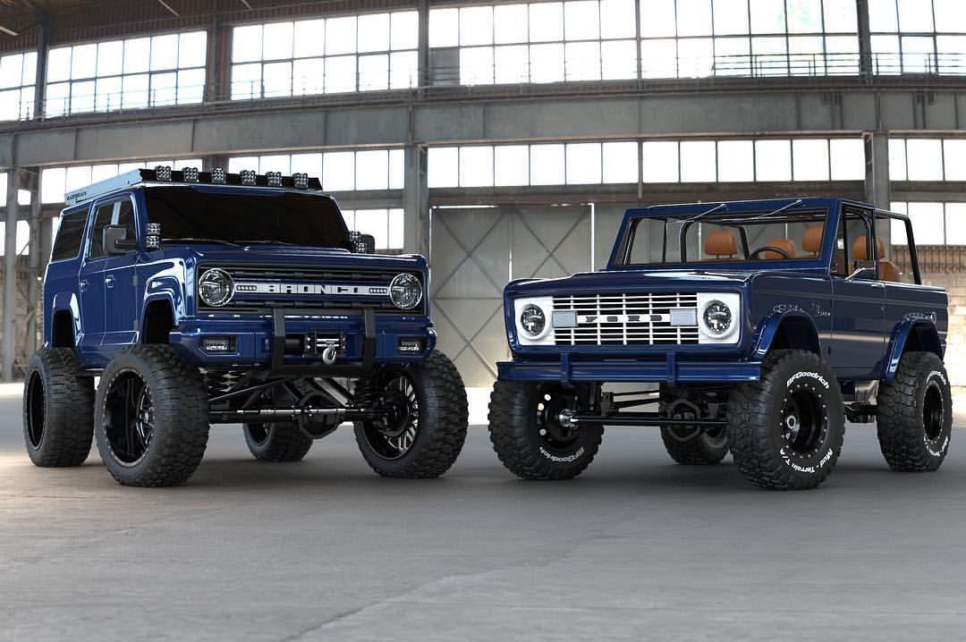 New Vs Old Which Bronco Would You Take Innov8 Old Maxlidermotors Sema 2018 Build New 2020 Innov8 Bronco Concept Bronco Bronco Concept Bronco Truck