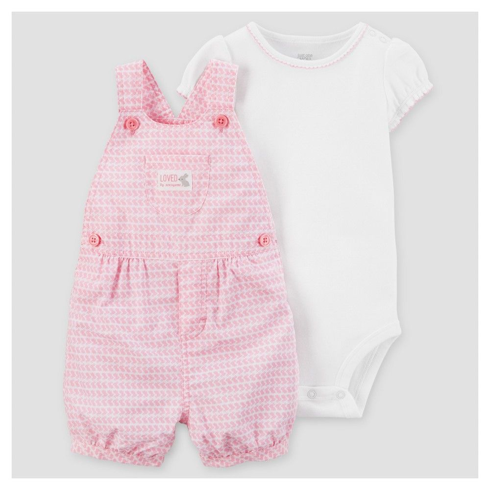1422e88ad4f4 Baby Girls  2pc Bunnies Shortall Set - Just One You Made by Carter s Pink