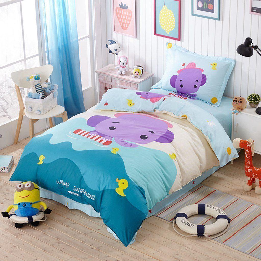 HelloFamilylove Soft cotton satin bedding Duvet Cover