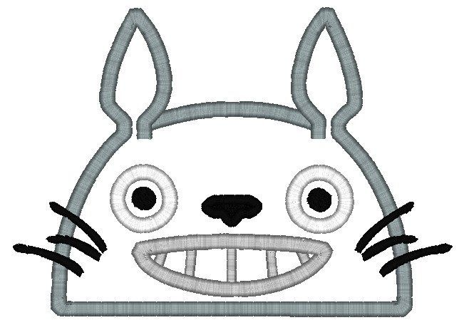 5X7 TOTO NEIGHBOR RABBIT/CAT HEAD FOR HOODED TOWEL