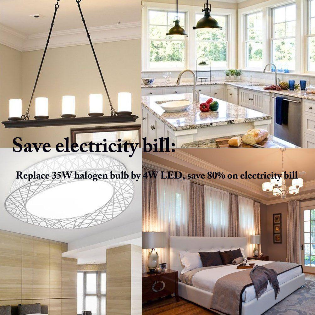 Dayker 4W E12 Base LED Light Bulb Daylight Equivalent to 35W