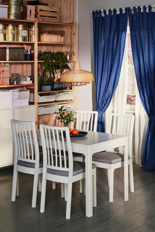Ekedalen Ekedalen Tisch Und 4 Stuhle Weiss Orrsta Hellgrau Ikea Deutschland Haus Esszimmer Mobel Weisse Stuhle