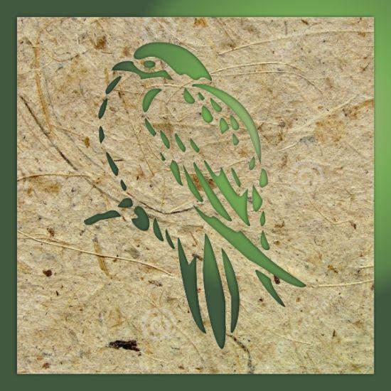 Laser cut template, design, pattern. Birds stencil template is ...