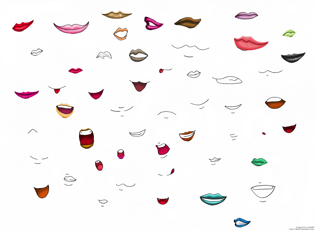 Anime lips and mouths Anime lips, Anime mouths, Anime