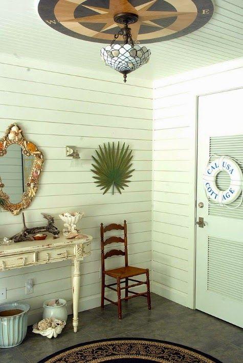 Warm Coastal Home With A Tropical Nautical Theme Coastal Theme
