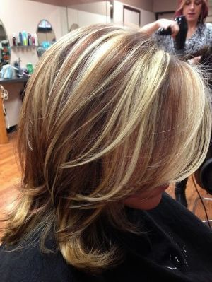 Highlights and lowlights for dark blonde hair highlights and red blonde and brown chunky highlights edgy extreme hair color idea kelly clarkson hair inspired highlights and lowlights by me pmusecretfo Choice Image