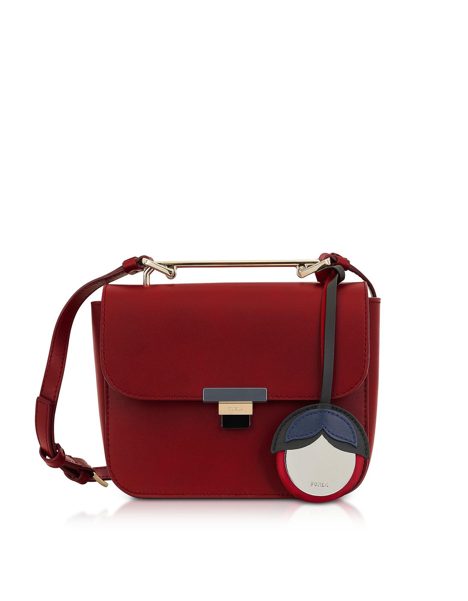 Elisir S Crossbody Bag in Cherry Calfskin Furla BaZGa2EL