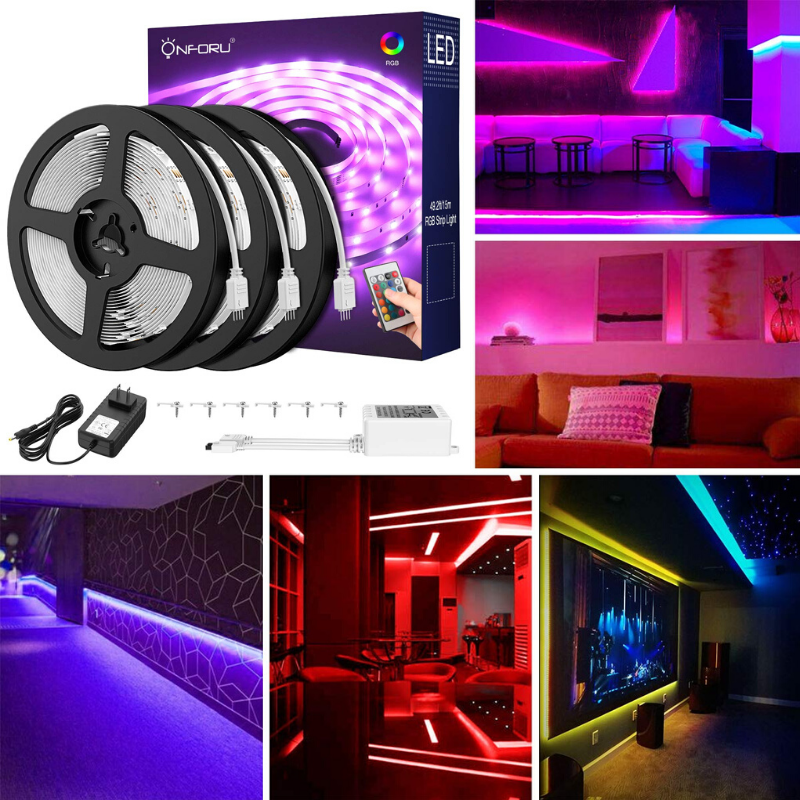50ft Rgb Led Strip Lights Kit Flexible Color Changing Lights Strip Rgb Led Strip Lights Color Changing Lights Led Strip Lighting