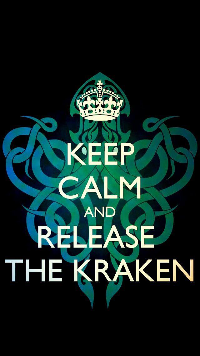 Keep Calm and Release The Kraken Wallpaper W A L L P A P E R