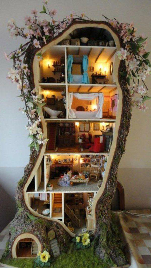 diy deko ideen holz dekoration etagen haus | spielzeug | pinterest ... - Deko Ideen Aus Holz Selber Machen