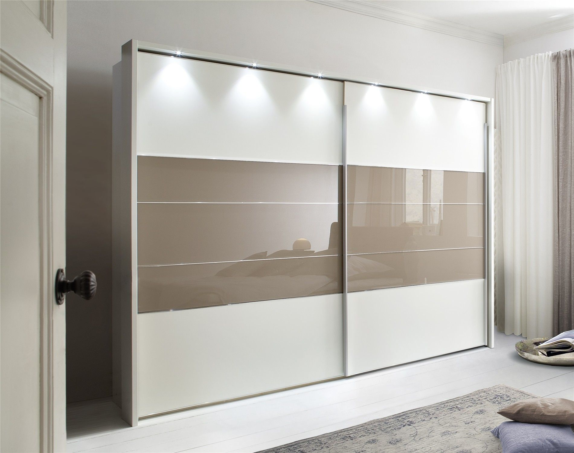 Wardrobe mirror sliding doors photo album christmas for Sliding wardrobe interior designs