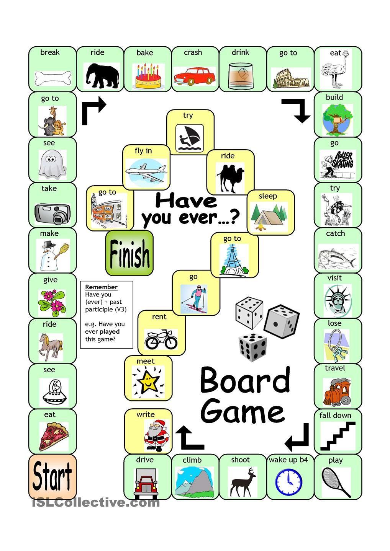Board Game Have You Ever Homework Pinterest Aprender Ingles