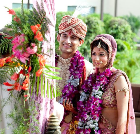 Destination Weddings Real Weddings Indian Wedding Garland Bridal Inspiration Flower Garland Wedding