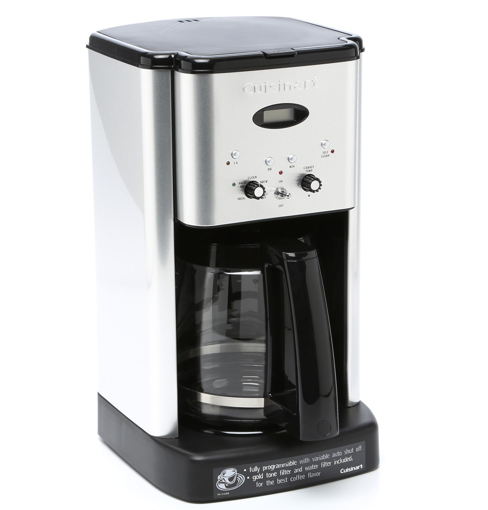 how to clean cuisinart coffee maker 12-cup