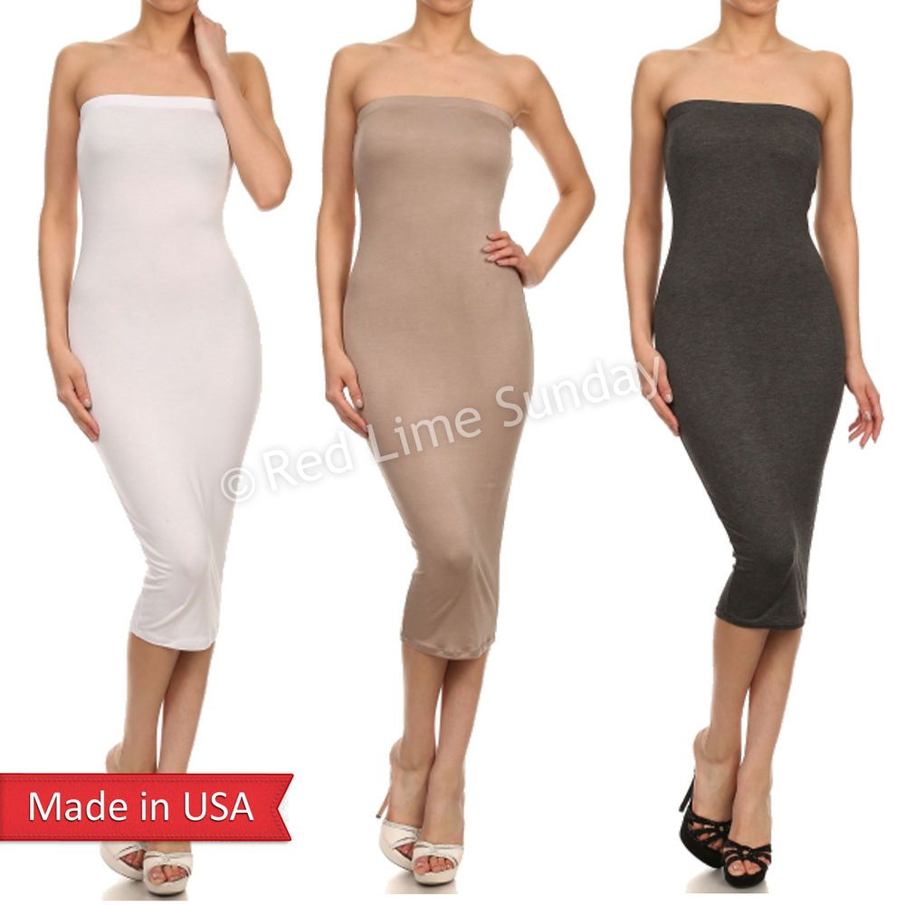 White Tube Bodycon Dress