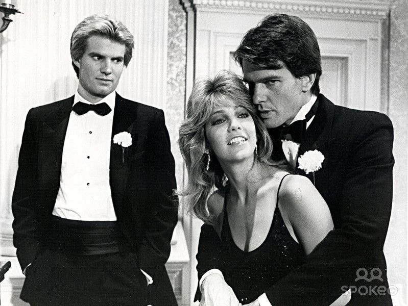 Steven With Brother Adam And Steven Ex Wife Sammy Jo Jack Coleman Dynasty Tv Show Coleman