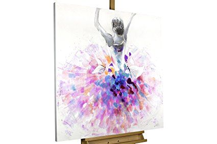 KunstLoft® Acryl Gemälde \'Primaballerina\' 80x80cm | original ...