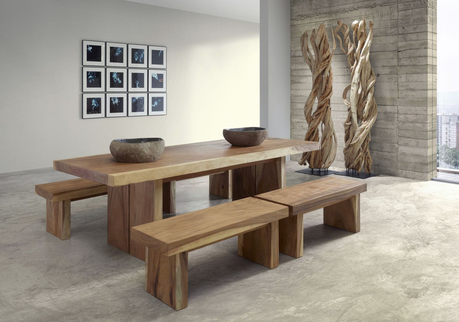 Resultado de imagen de mesas comedor con bancos | Muebles ...