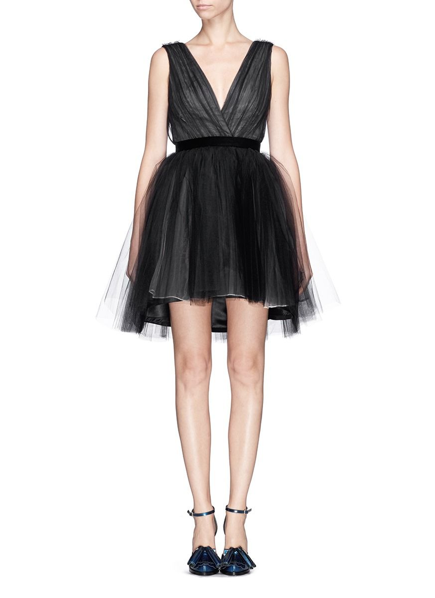 Featuring a pretty ruched bodice and full princess skirt this dress