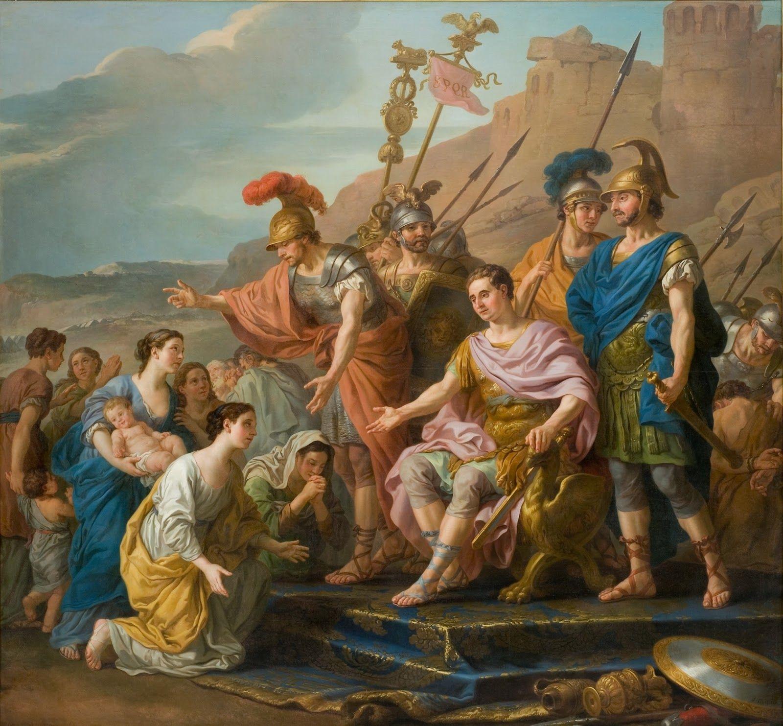 FRENCH PAINTERS: Joseph-Marie VIEN Coriolans Family Imploring him not to Besiege Rome