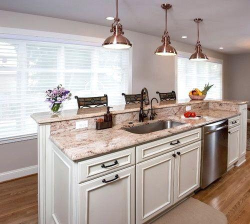 kitchen island designs #Kitchendesignideas #Kitchenislandwithseating