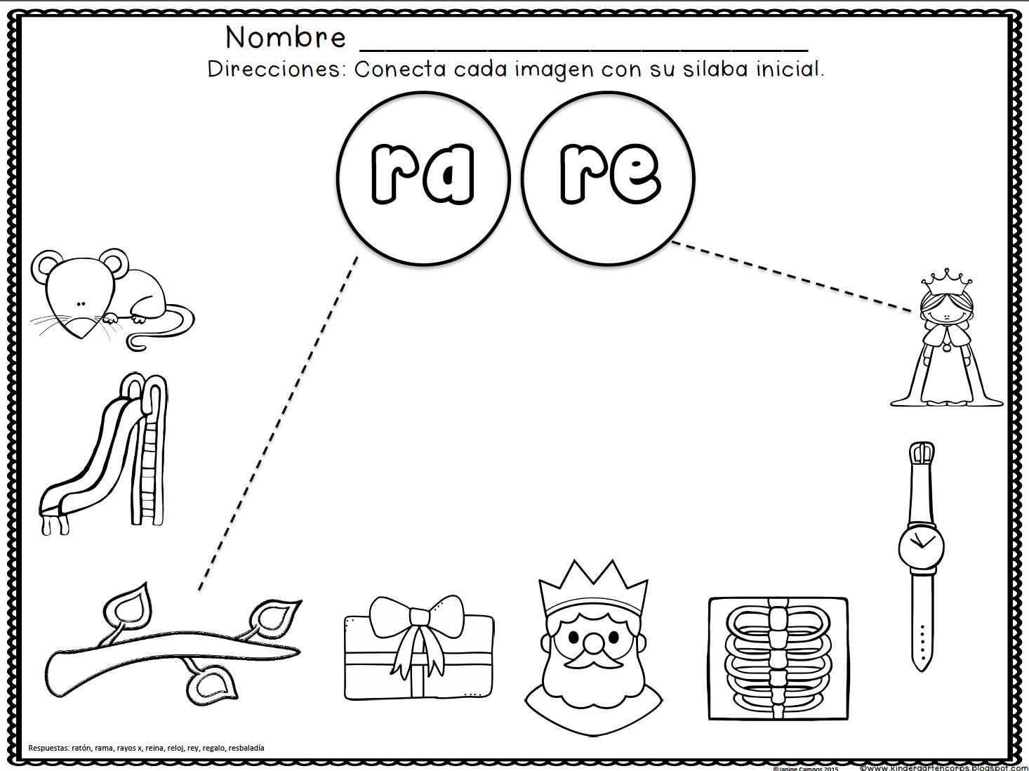 SILABAS INICIALES - LETRA R, RA, RE, RI, RO, RU, letra R | Word Work ...