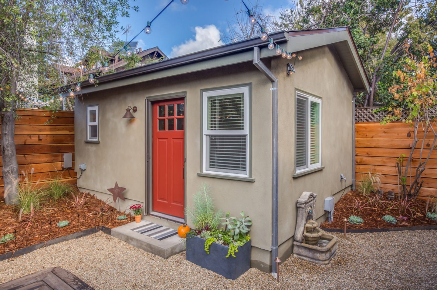 tiny backyard home office. Travis And Kelly\u0027s Backyard Casita - It Serves As A Guesthouse Office. Tiny Guest HouseGuest Home Office