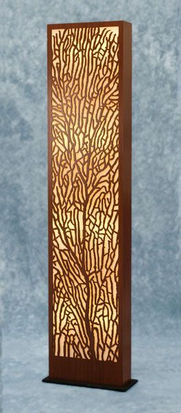 decorative laser cut paper decorative laser cut wood floor lamp this would work for - Decorative Lamps