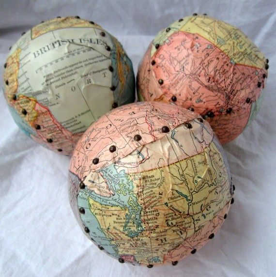 Turn an old map into a creative art piece. Learn more @BrightNest blog.